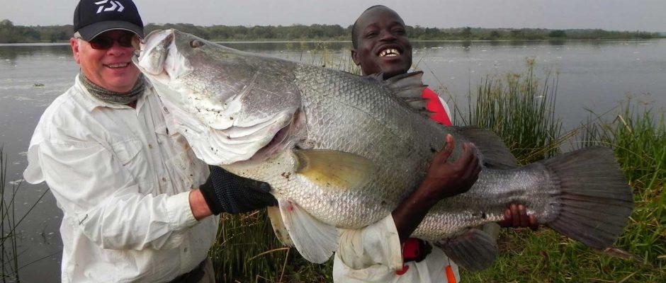 Fishing at Murchison Falls